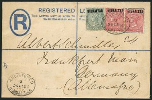 Sale Number 1114, Lot Number 975, Fiji thru Hong KongGIBRALTAR, 1886, -1/2p Green, 1p Rose (1-2; SG 1-2), GIBRALTAR, 1886, -1/2p Green, 1p Rose (1-2; SG 1-2)