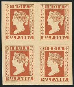 Sale Number 1114, Lot Number 989, IndiaINDIA, 1894, -1/2a Reprint of 1854 Issue, INDIA, 1894, -1/2a Reprint of 1854 Issue
