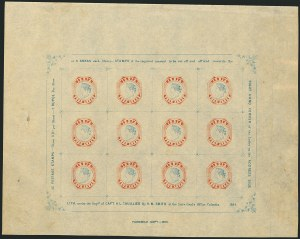 Sale Number 1114, Lot Number 991, IndiaINDIA, 1894, 4a Red & Blue, Thuillier & Smith Reprint of 1854, Wide Setting, INDIA, 1894, 4a Red & Blue, Thuillier & Smith Reprint of 1854, Wide Setting