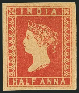 Sale Number 1114, Lot Number 996, IndiaINDIA, 1854, -1/2a Red (1; SG 1), INDIA, 1854, -1/2a Red (1; SG 1)