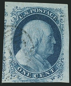 Sale Number 1115, Lot Number 2057, 1c 1851-56 Issue (Scott 6-8)1c Blue, Ty. II (7), 1c Blue, Ty. II (7)