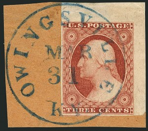 Sale Number 1115, Lot Number 2089, 3c 1851-56 Issue (Scott 10-11)3c Dull Red, Ty. II (11A), 3c Dull Red, Ty. II (11A)
