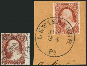 Sale Number 1115, Lot Number 2090, 3c 1851-56 Issue (Scott 10-11)3c Dull Red, Ty. I (11), 3c Dull Red, Ty. I (11)