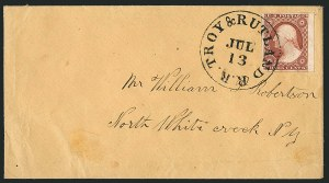 Sale Number 1115, Lot Number 2091, 3c 1851-56 Issue (Scott 10-11)3c Brownish Claret, Ty. II (11A), 3c Brownish Claret, Ty. II (11A)