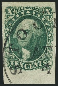 Sale Number 1115, Lot Number 2114, 10c 1851-56 Issue (Scott 13-14)10c Green, Ty. I (13), 10c Green, Ty. I (13)