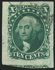 Sale Number 1115, Lot Number 2115, 10c 1851-56 Issue (Scott 13-14)10c Green, Ty. II (14), 10c Green, Ty. II (14)