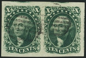 Sale Number 1115, Lot Number 2126, 10c 1851-56 Issue (Scott 13-14)10c Green, Ty. II (14), 10c Green, Ty. II (14)