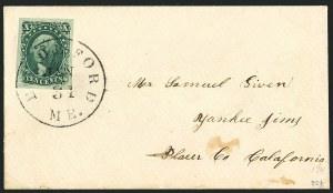 Sale Number 1115, Lot Number 2129, 10c 1851-56 Issue (Scott 13-14)10c Green, Ty. II (14), 10c Green, Ty. II (14)