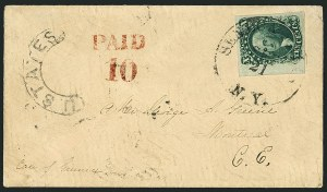 Sale Number 1115, Lot Number 2130, 10c 1851-56 Issue (Scott 13-14)10c Green, Ty. II (14), 10c Green, Ty. II (14)