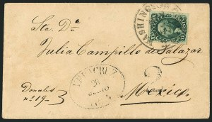 Sale Number 1115, Lot Number 2132, 10c 1851-56 Issue (Scott 13-14)10c Green, Ty. II (14), 10c Green, Ty. II (14)