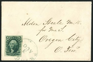 Sale Number 1115, Lot Number 2133, 10c 1851-56 Issue, cont. (Scott 15-16)10c Green, Ty. III (15), 10c Green, Ty. III (15)