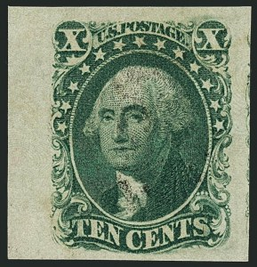 Sale Number 1115, Lot Number 2135, 10c 1851-56 Issue, cont. (Scott 15-16)10c Green, Ty. III (15), 10c Green, Ty. III (15)