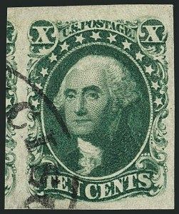 Sale Number 1115, Lot Number 2137, 10c 1851-56 Issue, cont. (Scott 15-16)10c Green, Ty. III (15), 10c Green, Ty. III (15)