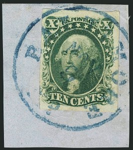 Sale Number 1115, Lot Number 2139, 10c 1851-56 Issue, cont. (Scott 15-16)10c Green, Ty. III (15), 10c Green, Ty. III (15)