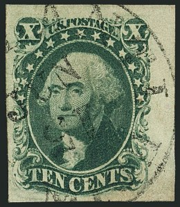 Sale Number 1115, Lot Number 2140, 10c 1851-56 Issue, cont. (Scott 15-16)10c Green, Ty. III (15), 10c Green, Ty. III (15)