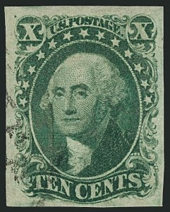 Sale Number 1115, Lot Number 2145, 10c 1851-56 Issue, cont. (Scott 15-16)10c Green, Ty. IV (16), 10c Green, Ty. IV (16)