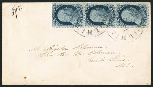 Sale Number 1115, Lot Number 2161, 1c 1857-60 Issue (Scott 18-21)1c Blue, Ty. II (20), 1c Blue, Ty. II (20)