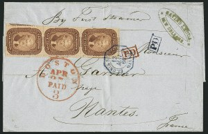 Sale Number 1115, Lot Number 2166, 5c 1857-60 Issue (Scott 28b-30A)5c Brown (29), 5c Brown (29)