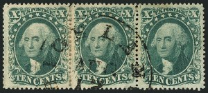 Sale Number 1115, Lot Number 2174, 10c 1857-60 Issue (Scott 31-35)10c Green, Ty. II (32), 10c Green, Ty. II (32)