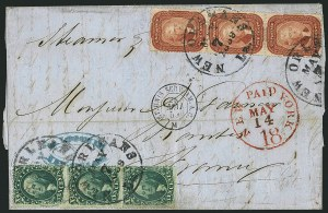 Sale Number 1115, Lot Number 2177, 10c 1857-60 Issue (Scott 31-35)10c Green, Ty. IV (34), 10c Green, Ty. IV (34)