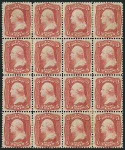 Sale Number 1115, Lot Number 2197, 1861-66 Issue (Scott 56-67)3c Brown Rose, First Design (56), 3c Brown Rose, First Design (56)