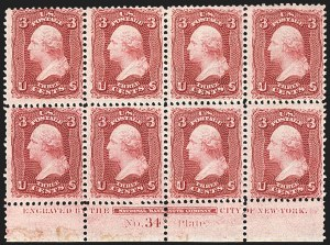 Sale Number 1115, Lot Number 2202, 1861-66 Issue (Scott 56-67)3c Lake (66), 3c Lake (66)