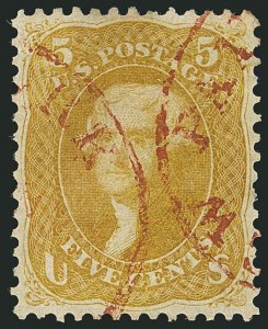 Sale Number 1115, Lot Number 2204, 1861-66 Issue (Scott 56-67)5c Brown Yellow (67a), 5c Brown Yellow (67a)