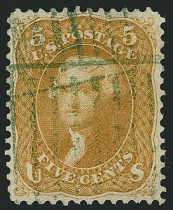Sale Number 1115, Lot Number 2205, 1861-66 Issue (Scott 56-67)5c Brown Yellow (67a), 5c Brown Yellow (67a)
