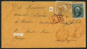 Sale Number 1115, Lot Number 2208, 1861-66 Issue (Scott 56-67)5c Brown Yellow (67a), 5c Brown Yellow (67a)
