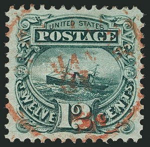 Sale Number 1115, Lot Number 2268, 12c-90c 1869 Pictorial Issue (Scott 117-122)12c Green (117), 12c Green (117)