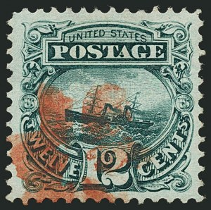 Sale Number 1115, Lot Number 2269, 12c-90c 1869 Pictorial Issue (Scott 117-122)12c Green (117), 12c Green (117)