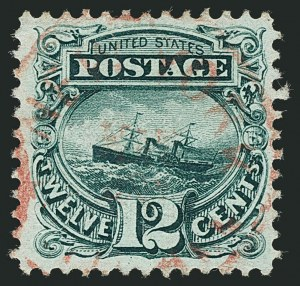 Sale Number 1115, Lot Number 2270, 12c-90c 1869 Pictorial Issue (Scott 117-122)12c Green (117), 12c Green (117)
