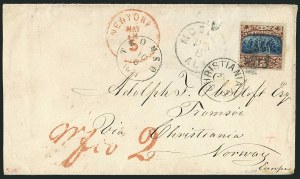 Sale Number 1115, Lot Number 2273, 12c-90c 1869 Pictorial Issue (Scott 117-122)15c Brown & Blue, Ty. II (119), 15c Brown & Blue, Ty. II (119)