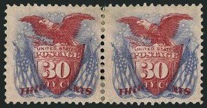 Sale Number 1115, Lot Number 2281, 12c-90c 1869 Pictorial Issue (Scott 117-122)30c Ultramarine & Carmine (121), 30c Ultramarine & Carmine (121)