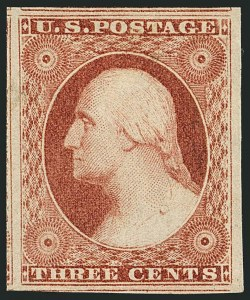 Sale Number 1116, Lot Number 3100, 1851-56 Issue (Scott 5A-17)3c Dull Red, Ty. I (11), 3c Dull Red, Ty. I (11)