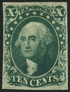 Sale Number 1116, Lot Number 3111, 1851-56 Issue (Scott 5A-17)10c Green, Ty. IV (16), 10c Green, Ty. IV (16)
