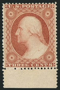 Sale Number 1116, Lot Number 3124, 1857-60 Issue and 1875 Reprints (Scott 18-41)3c Dull Red, Ty. III (26). Mint N.H, 3c Dull Red, Ty. III (26). Mint N.H