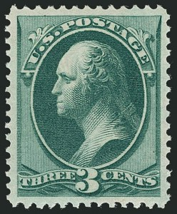 Sale Number 1116, Lot Number 3214, 1870-75 National and Continental Bank Note Co. Issues (Scott 134-179)3c Green (158). Mint N.H, 3c Green (158). Mint N.H