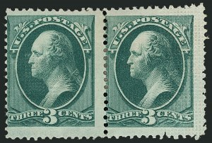 Sale Number 1116, Lot Number 3215, 1870-75 National and Continental Bank Note Co. Issues (Scott 134-179)3c Green, With Grill (158e), 3c Green, With Grill (158e)
