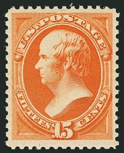 Sale Number 1116, Lot Number 3224, 1879-93 American Bank Note Co. Issues (Scott 182-229)15c Red Orange (189), 15c Red Orange (189)