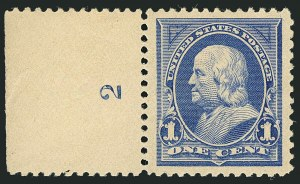 Sale Number 1116, Lot Number 3254, 1894-98 Bureau Issues (Scott 246-278)1c Ultramarine (246), 1c Ultramarine (246)