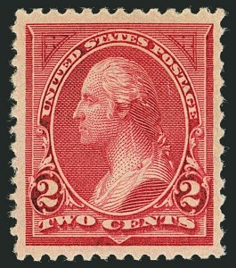 Sale Number 1116, Lot Number 3255, 1894-98 Bureau Issues (Scott 246-278)2c Carmine Lake, Ty. I (249), 2c Carmine Lake, Ty. I (249)