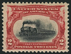 Sale Number 1116, Lot Number 3282, 1898 Trans-Mississippi and 1901 Pan-American Issues (Scott 285-299)2c Pan-American (295), 2c Pan-American (295)