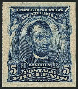 Sale Number 1116, Lot Number 3297, 1902-08 thru Louisiana Purchase Issues (Scott 300-327)5c Blue, Imperforate (315), 5c Blue, Imperforate (315)