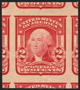 Sale Number 1116, Lot Number 3300, 1902-08 thru Louisiana Purchase Issues (Scott 300-327)2c Scarlet, Ty. I, Imperforate (320b), 2c Scarlet, Ty. I, Imperforate (320b)