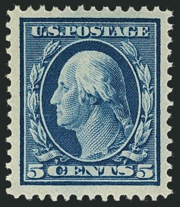 Sale Number 1116, Lot Number 3317, 1908-15 Issues (Scott 331-460)5c Blue (378), 5c Blue (378)
