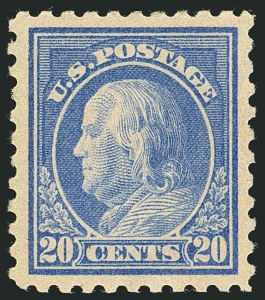 Sale Number 1116, Lot Number 3326, 1908-15 Issues (Scott 331-460)20c Ultramarine (438), 20c Ultramarine (438)
