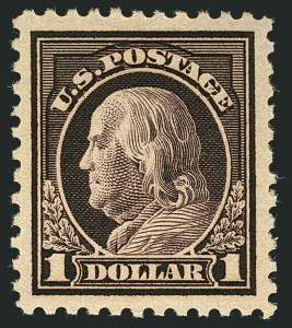 Sale Number 1116, Lot Number 3363, 1916-20 Issues (Scott 462-547)$1.00 Violet Brown (518), $1.00 Violet Brown (518)