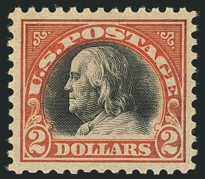 Sale Number 1116, Lot Number 3369, 1916-20 Issues (Scott 462-547)$2.00 Orange Red & Black (523), $2.00 Orange Red & Black (523)