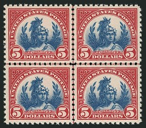 Sale Number 1116, Lot Number 3380, 1922 and Later Issues$5.00 Carmine & Blue (573), $5.00 Carmine & Blue (573)